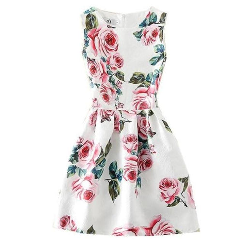 Roses Sleeveless Dress, 7,  - CeCe & Jax