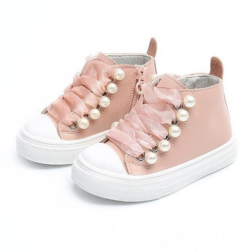 Jazmen Pearl Leather Shoes, Pink, 11 - CeCe & Jax