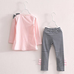 Hannah Striped Top & Leggings Set, ,  - CeCe & Jax