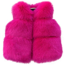 Load image into Gallery viewer, Sofia Faux Fur Vest, Hot Pink, 5 - CeCe & Jax