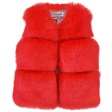 Load image into Gallery viewer, Sofia Faux Fur Vest, Red, 5 - CeCe & Jax