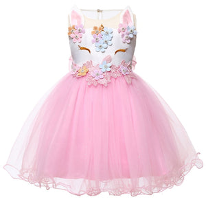 Emilia Unicorn Dress, Pink, 6M - CeCe & Jax