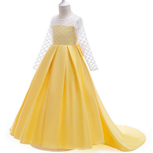 Aria Long Sleeve Gown (FINAL SALE), Yellow, 4T - CeCe & Jax
