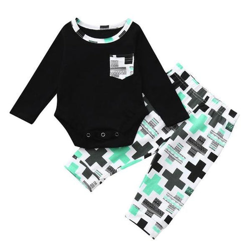Steam Print Shirt & Leggings Set, 6M,  - CeCe & Jax
