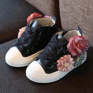 Siobhan Floral Leather Shoes, Black, 8 - CeCe & Jax
