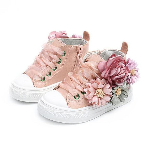 Siobhan Floral Leather Shoes, Pink, 8 - CeCe & Jax