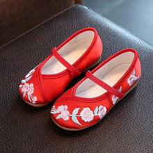 Load image into Gallery viewer, Hayden Embroidered Flats, Red, 10 - CeCe & Jax