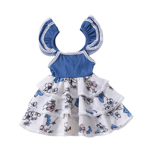 Skai Ruffle Flower Dress, 12M,  - CeCe & Jax
