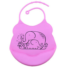 Load image into Gallery viewer, Cartoon Silicone Bib, Lavender,  - CeCe & Jax
