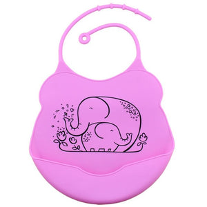 Cartoon Silicone Bib, Lavender,  - CeCe & Jax
