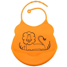 Load image into Gallery viewer, Cartoon Silicone Bib, Orange,  - CeCe & Jax