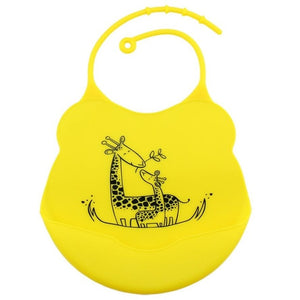 Cartoon Silicone Bib, Yellow,  - CeCe & Jax