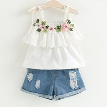Load image into Gallery viewer, Jasmine Rose Top & Shorts Set, 2T,  - CeCe & Jax