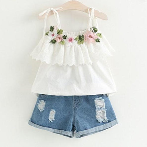 Jasmine Rose Top & Shorts Set, 2T,  - CeCe & Jax