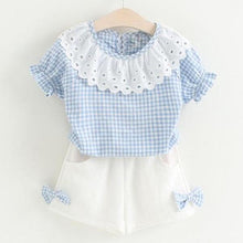 Load image into Gallery viewer, Dolly Top & Shorts Set, Baby Blue, 2T - CeCe & Jax