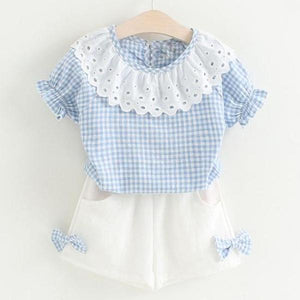 Dolly Top & Shorts Set, Baby Blue, 2T - CeCe & Jax