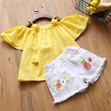 Load image into Gallery viewer, Rosie Top & Shorts Set, Yellow, 2T - CeCe & Jax