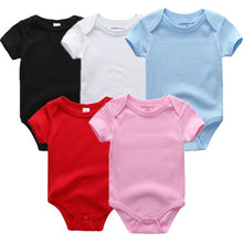 Load image into Gallery viewer, Zoomie Solid Short Sleeve 5pc Bodysuits, Multi Color, 3M - CeCe & Jax