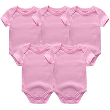 Load image into Gallery viewer, Zoomie Solid Short Sleeve 5pc Bodysuits, Pink, 12M - CeCe & Jax