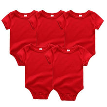Load image into Gallery viewer, Zoomie Solid Short Sleeve 5pc Bodysuits, Red, 12M - CeCe & Jax