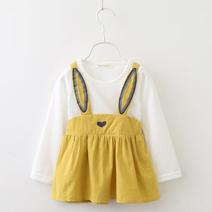 AdoraBunny Dress, Mustard, 18M - CeCe & Jax