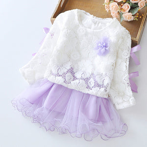 Lace Top Layer Dress, Lavender, 24M - CeCe & Jax
