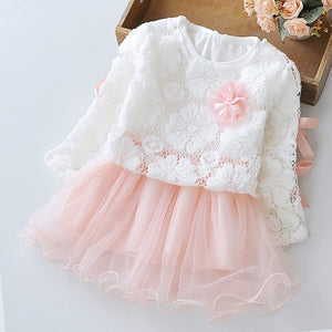 Lace Top Layer Dress, Light Pink, 24M - CeCe & Jax