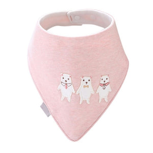 Furies' Cotton Bandana Bib, Light Pink,  - CeCe & Jax