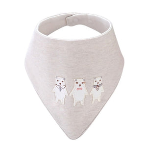 Furies' Cotton Bandana Bib, Light Gray,  - CeCe & Jax