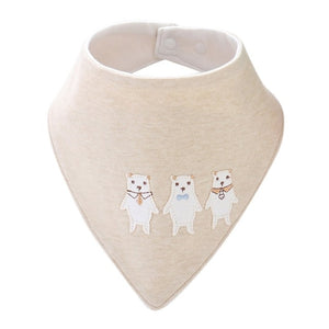Furies' Cotton Bandana Bib, Light Beige,  - CeCe & Jax