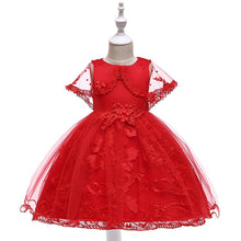 Load image into Gallery viewer, Victoria Floral Lace Dress, Red, 4T - CeCe & Jax