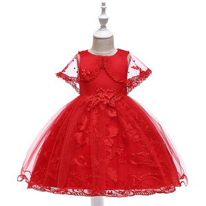 Victoria Floral Lace Dress, Red, 4T - CeCe & Jax