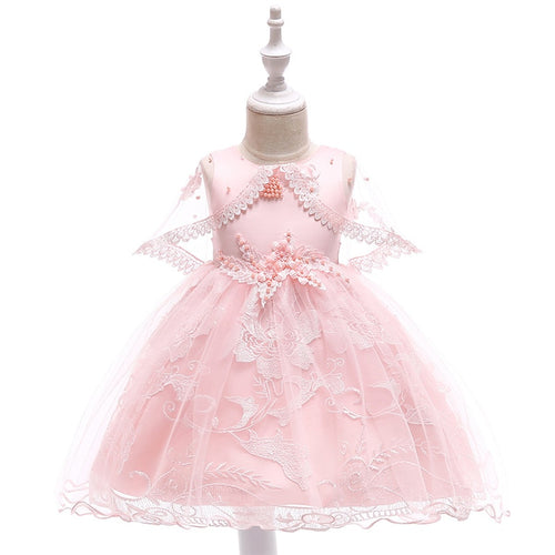 Victoria Floral Lace Dress, Pink, 4T - CeCe & Jax