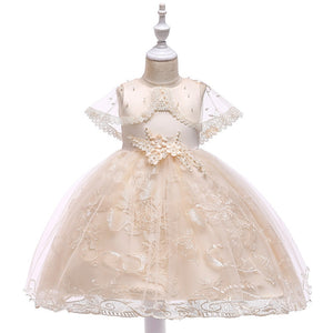 Victoria Floral Lace Dress, Cream, 4T - CeCe & Jax