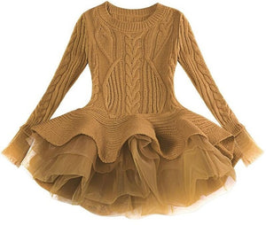 Prima Tulle Sweater, Brown, 2T - CeCe & Jax
