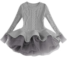 Load image into Gallery viewer, Prima Tulle Sweater, Gray, 2T - CeCe & Jax
