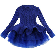 Load image into Gallery viewer, Prima Tulle Sweater, Blue, 2T - CeCe & Jax
