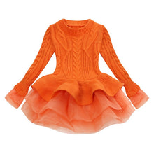Load image into Gallery viewer, Prima Tulle Sweater, Orange, 2T - CeCe & Jax