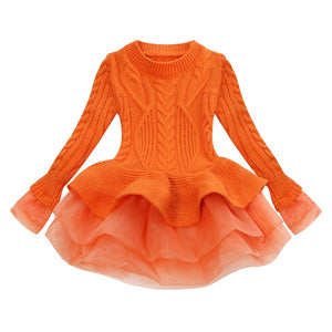 Prima Tulle Sweater, Orange, 2T - CeCe & Jax