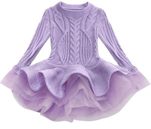 Prima Tulle Sweater, Purple, 2T - CeCe & Jax