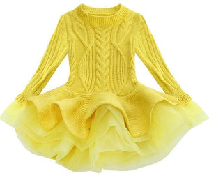 Prima Tulle Sweater, Yellow, 2T - CeCe & Jax