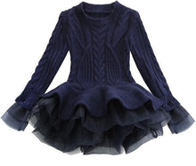 Load image into Gallery viewer, Prima Tulle Sweater, Navy, 2T - CeCe & Jax