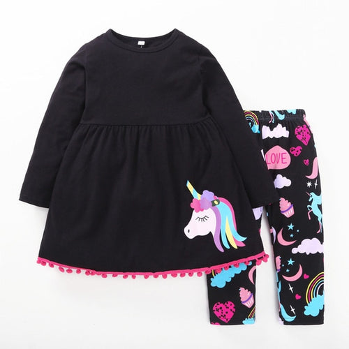Jessie Unicorn Shirt & Leggings Set