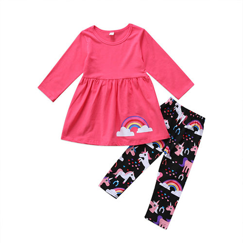 Jessie Rainbow Shirt & Leggings, 12M,  - CeCe & Jax
