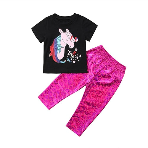 Unicorn Believer Shirt & Leggings Set