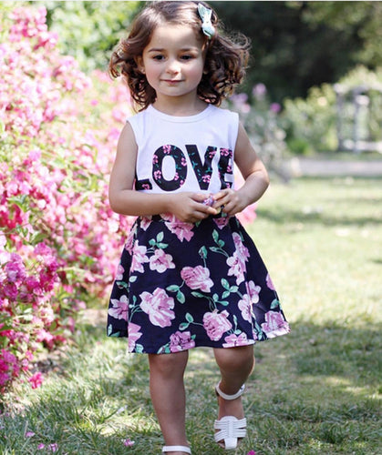 Love N' Roses Tank Top & Skirt Set, 3T,  - CeCe & Jax
