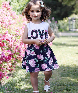 Love N' Roses Tank Top & Skirt Set