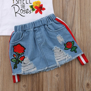 Smell the Roses Shirt & Skirt Set, ,  - CeCe & Jax