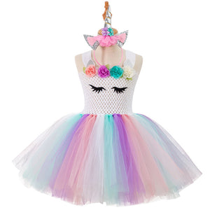 Krissy Unicorn Dress, White, 2T - CeCe & Jax