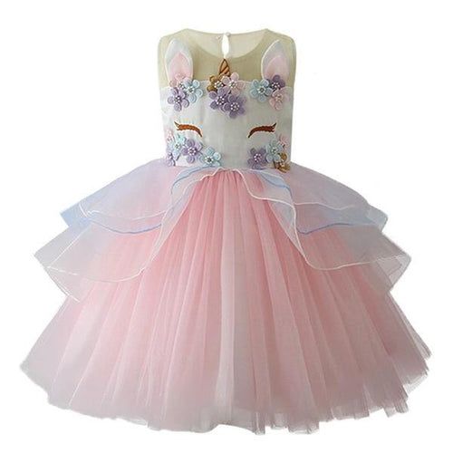 Jordyn Unicorn Princess Dress, Pink, 2T - CeCe & Jax